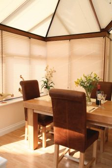 Free Hanging Pleated Blinds For Conservatories Or Any Room