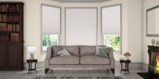 Altitude Clover Pleated Blinds in a lounge