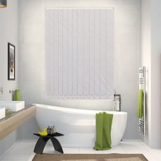Amelia cream vertical blinds in a bathroom