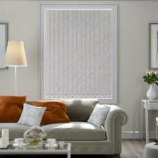 Amelia ivory vertical blind in a lounge