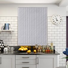 Amelia white vertical blind in a kitchen