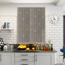 Antoinette bone vertical blind in a kitchen