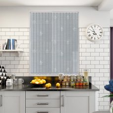 Antoinette ivory vertical blind in a kitchen