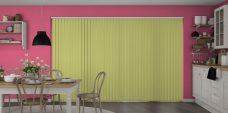 Banlight Duo Fresh Apple Vertical Blinds in a kitchen