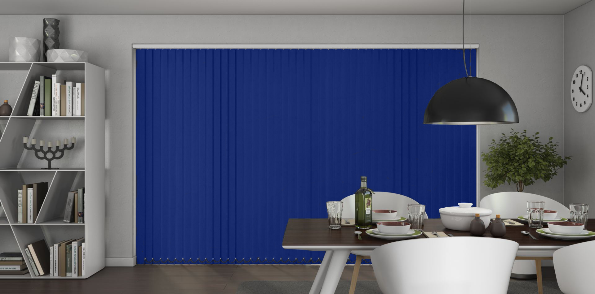 Banlight Duo Navy Vertical Blinds