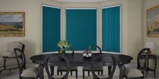 Banlight Duo Ocean Vertical Blinds in a dining room