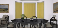 Banlight Duo Primrose Vertical Blinds in a dining room