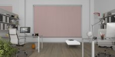Banlight Duo Rose Vertical Blinds in an study