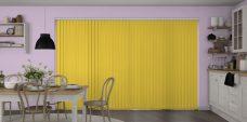Banlight Duo Sunflower Vertical Blinds in a kitchen