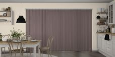 Banlight Duo Taupe Vertical Blinds in a kitchen