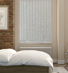 Cairo Dover Cliffs Vertical blinds in a bedroom