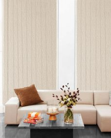Cairo src Skimming Stone Vertical Blinds in a lounge