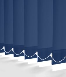 Carnival Navy Vertical blinds close up