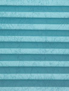 Crush Aquamarine Pleated Blind Fabric