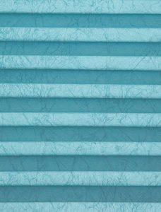 Crush Aquamarine Pleated Blind Fabric