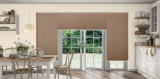 Crush Hazel Pleated Blinds in a kitchen