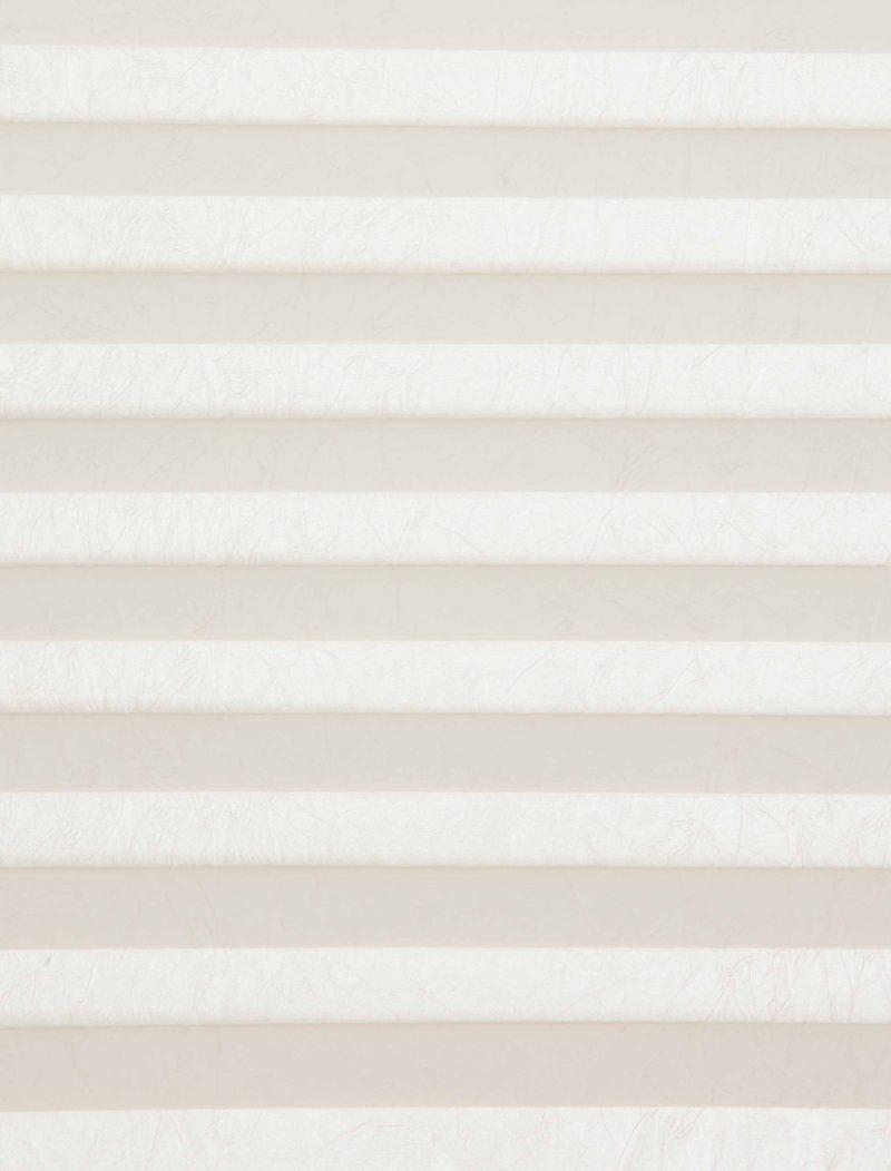 Crush Ivory Pleated Blind Fabric