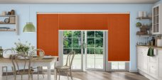 Crush Terracotta Pleated Blinds in a kitchen