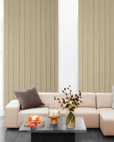 Kenya Mocha Vertical Blinds in a lounge