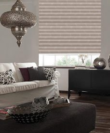 Lauren Stone Pleated Blind in a lounge