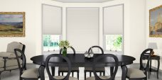 Marcello Old Lace Pleated Blinds in a dining room