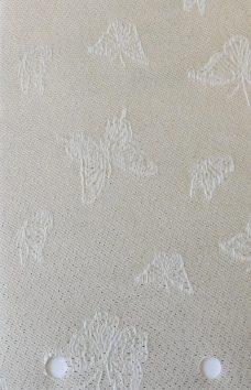Mariposa Teflon Silver vertical blind fabric