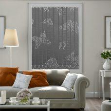 Mariposa Teflon Pebble Vertical Blinds in a lounge