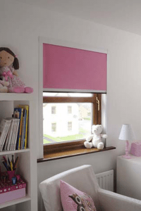 new bloc cassette blind in a girl's bedroom