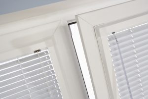 Perfect fit blinds in white close up