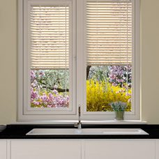 Cream Perfect fit-Venetian Blinds in Slats 4459-25 P8-perforated finish