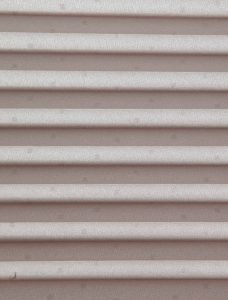 Quad Bronze Pleated Blind Fabric