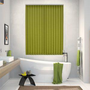 Rianna-Luminas-vertical blinds in a bathroom
