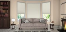 Somino Ivory Pleated Blinds in a lounge
