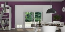 Torelli Diamond Pleated Blinds in a kitchen