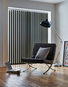 Xanadu Glister Vertical Blinds in a lounge