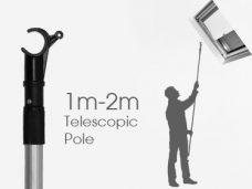 Pole or wand for skylight windows