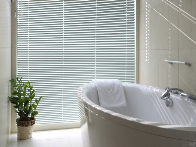 Venetian Blind in slats 0952 in a bathroom