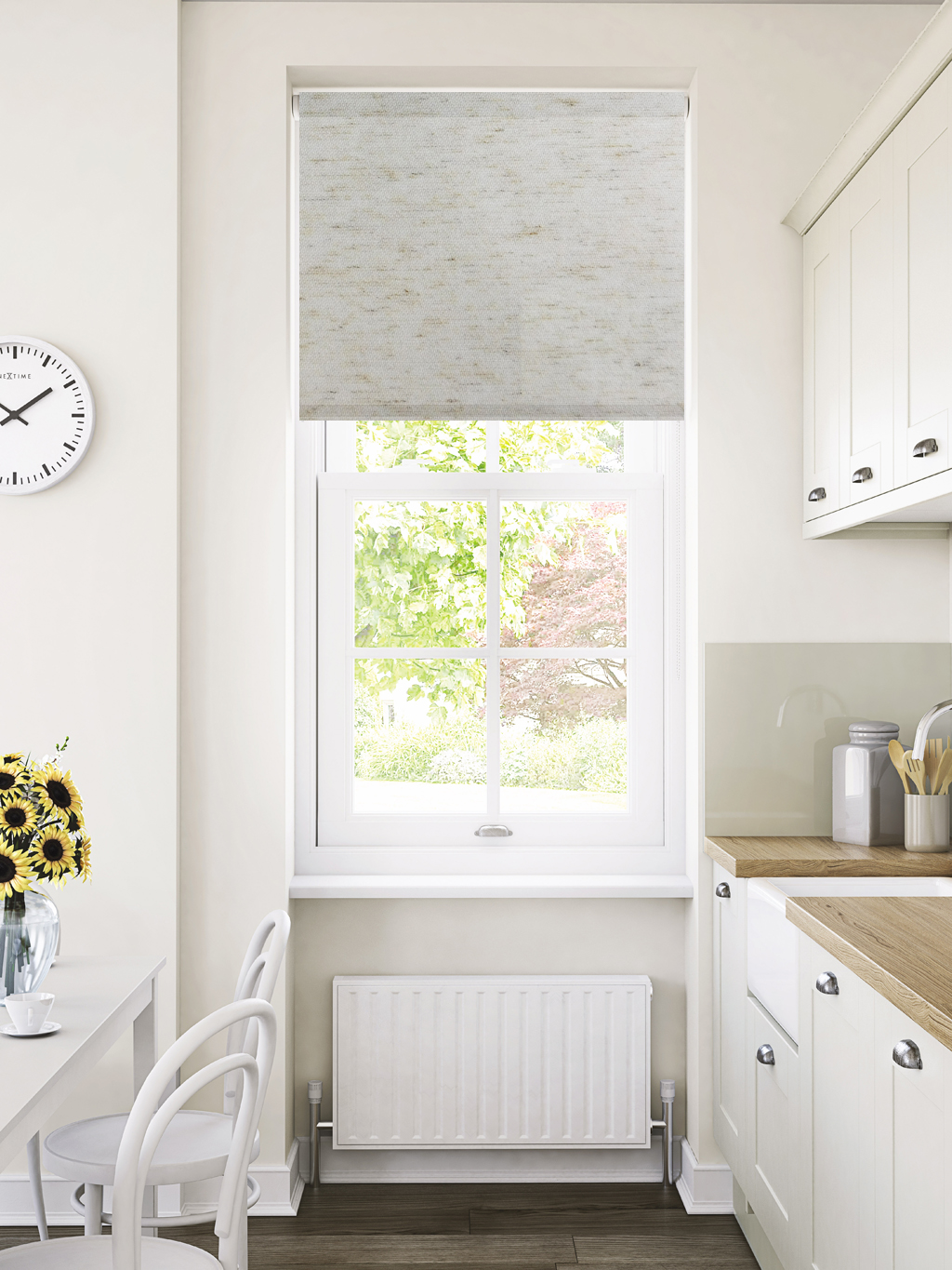 Buy Flax Haze Motorised Roller Blinds Online Merit Blinds