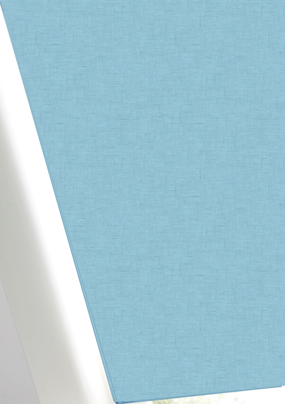Spectrum Soft Blue FR BO Roller Blind