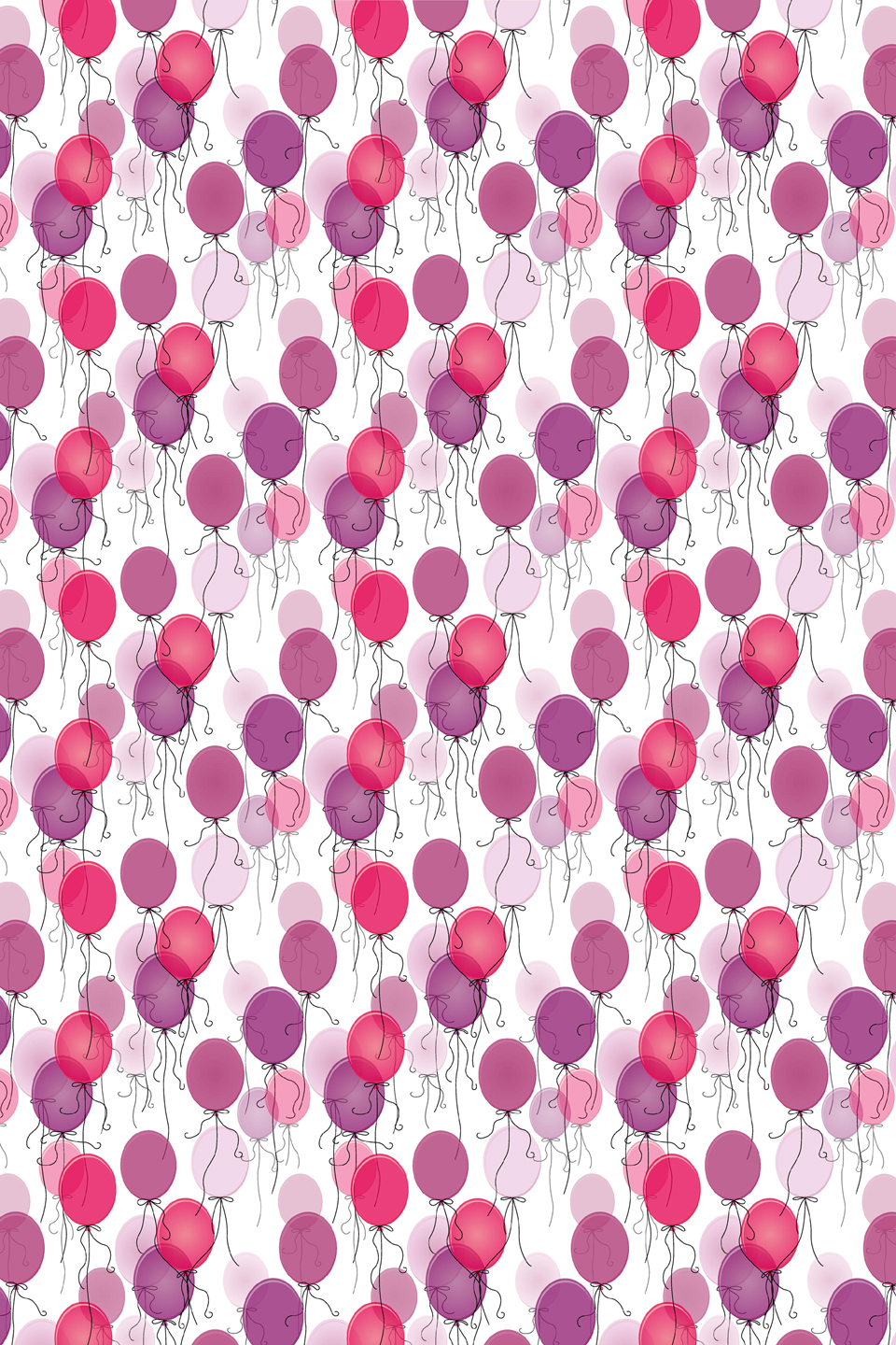 Pink balloons blind fabric
