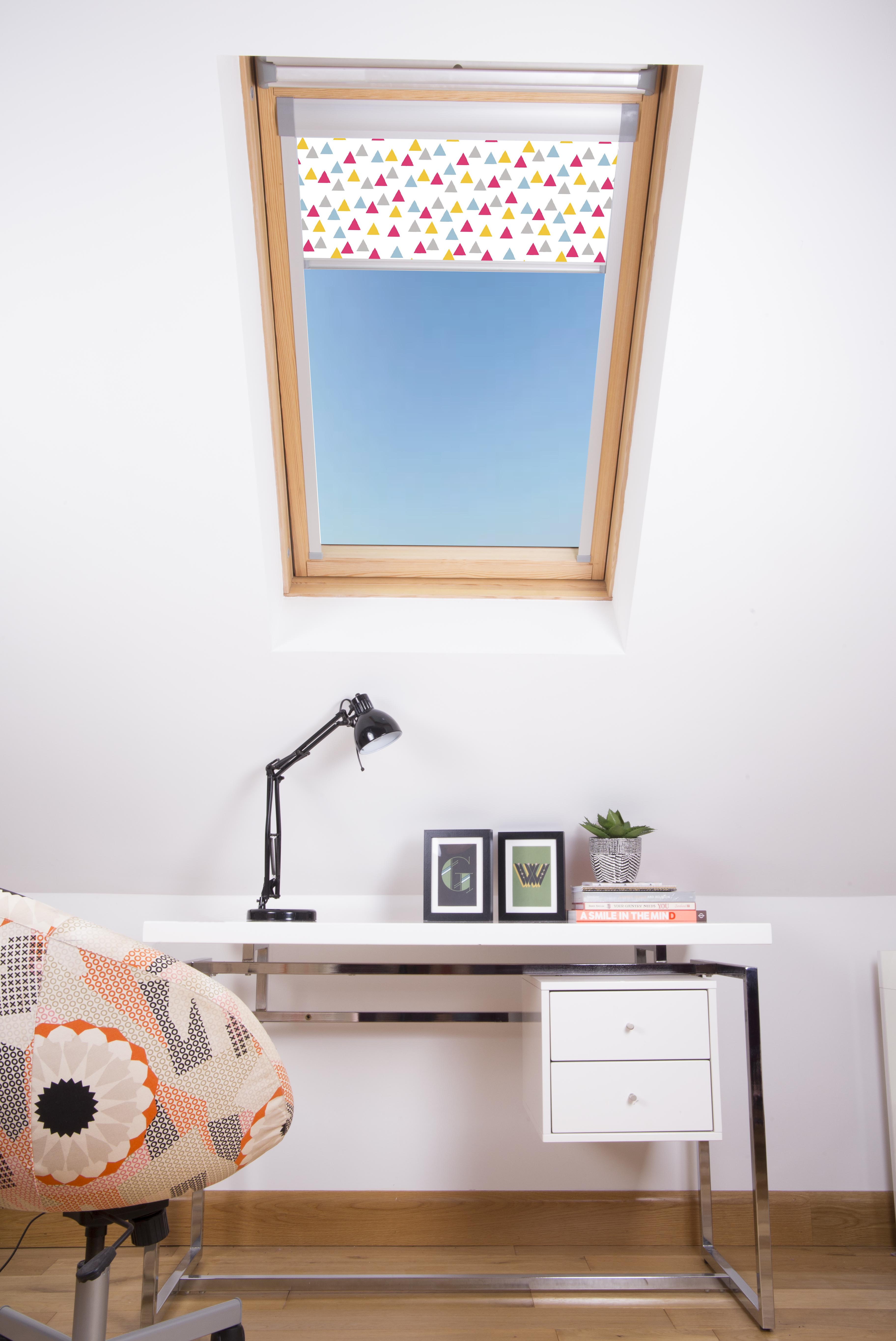 Funky Triangles Pink Skylight Blind