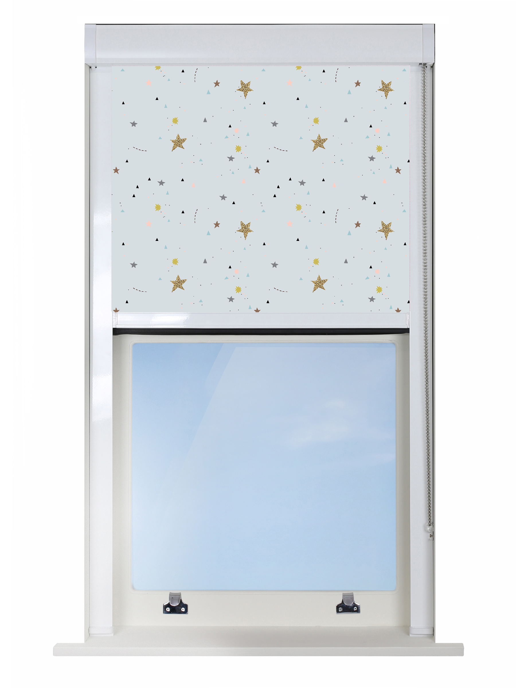Crafty Stars Blue Blocout XL Blind