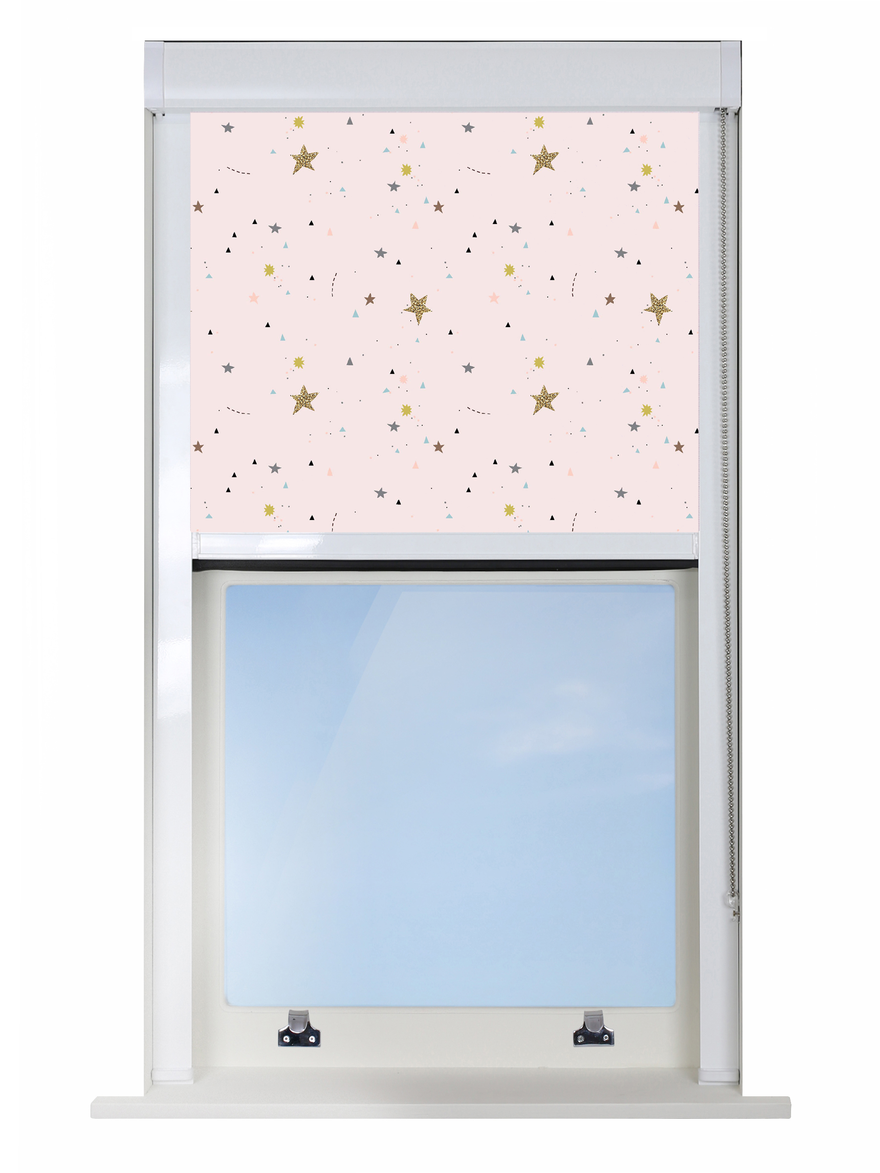 Crafty Stars Pink Blocout XL Blind