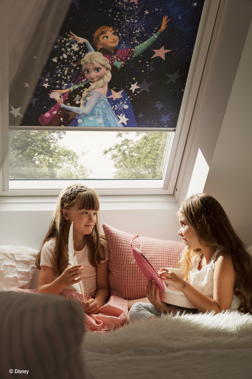 Disney Velux 4656 Frozen Anna And Elsa blind