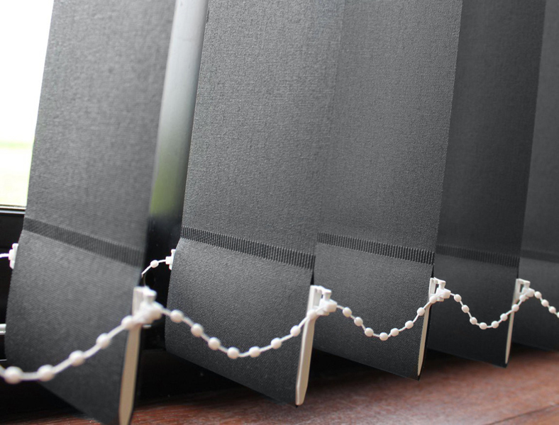 Polaris Charcoal vertical blinds