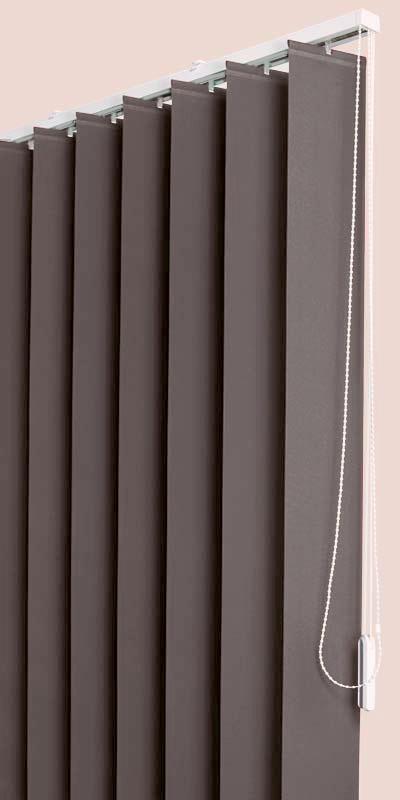 Polaris Chocolate vertical blinds