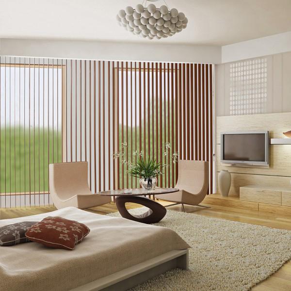 Polaris Hazelnut vertical blinds