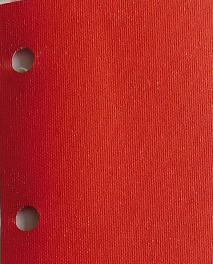 Polaris Red blind fabric