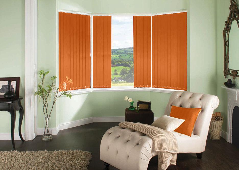 Polaris Tangerine vertical blind