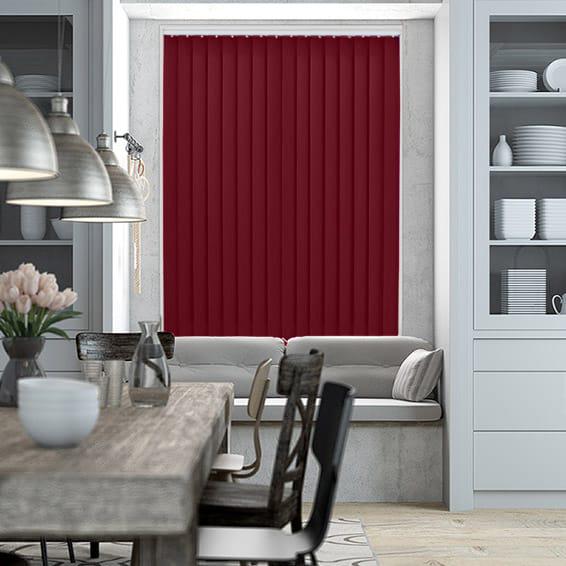 Polaris Wine vertical blinds